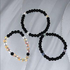 """midnight"" bracelet set"